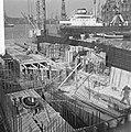 IJ-tunnel in aanbouw, Caisson V aan de zuidelijke zijde van het tunnelproject, Bestanddeelnr 918-2733.jpg