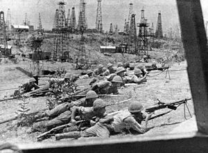 33rd Division (Imperial Japanese Army) - Soldiers of the 33rd division occupying the oilfields at Yenangyaung, 1942