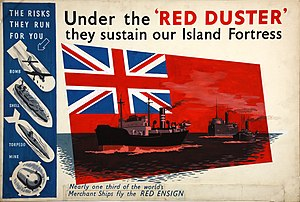 Red Ensign - World War II (1939-1945) morale poster