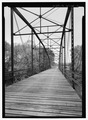 INTERIOR OF TRUSS LOOKING NORTH - Nimrod Bridge, Spanning Fourche Lafave River at CR 18, Nimrod, Perry County, AR HAER AR-66-4.tif