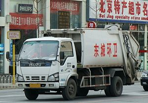 Qingling Motors - Image: ISUZU Collection Truck in Beijing