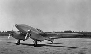De Havilland DH.88 - The race winner (formerly G-ACSS) wearing RAF livery in 1936