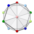 Icosahedron with colored vertices, 5-fold light.png