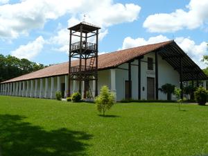 Yaguarón - Yaguaron Church and its bell tower.