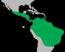 Iguana iguana distribution map.png