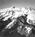 Iliamna Volcano, valley and mountain glaciers, with icefall and bergschrund, September 3, 1966 (GLACIERS 6587).jpg