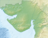 100px india gujarat relief map