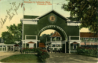 Indianola Park - Indianola Park's entrance was on the corner of 19th Avenue and 4th Street.