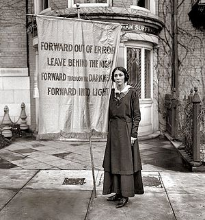 Inez Milholland - Banner at Milholland's memorial service in 1916