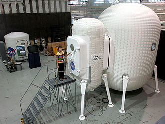 Colonization of the Moon - A NASA model of a proposed inflatable module