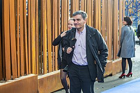 Informal meeting of economic and financial affairs ministers (ECOFIN). Arrivals Euclid Tsakalotos (36417663144).jpg