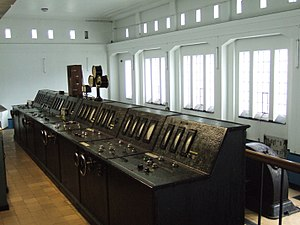 Hakavik Power Station - Instruments control room