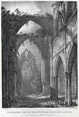 Interior View of West Window, Tintern Abbey