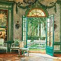 Interior of Elsie De Wolfe's music pavilion looking out on to the pool, The Villa Trianon.jpg