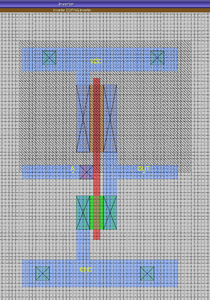 Layout VLSI di un circuito con Magic
