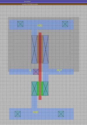Magic (software) - VLSI Layout of an Inverter Circuit using Magic software