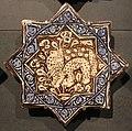 Iran, mattonelle stellate con animali, 1250-1300 ca. elefante.JPG