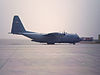 Iraqi Air Force C-130 on the flightline at Al Basrah International Airport April 1 2005.jpg