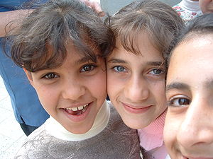Iraqi girls living next to Daurra Oil Refinery in Iraq.jpg