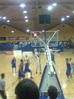 Tallaght - Ireland against Luxembourg at the National Basketball Arena.