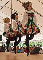 de danza Bailarinas irlandesa tradicionales trajes folclórica con 8v1wqfwxg
