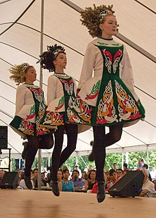group of traditional dance forms originating from Ireland