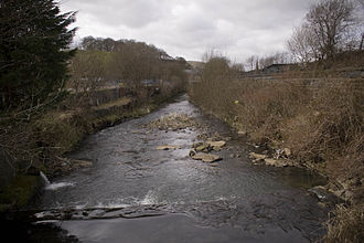 River Irwell - The Irwell flows west through Waterfoot in Rossendale