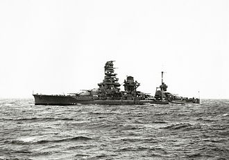 Japanese battleship Ise - Ise after her 1935-37 reconstruction