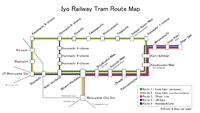 Iyo Railway Tram Route Map.png