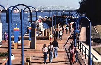 Jacksonville Riverwalks - Southbank Riverwalk in 1986.