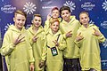 JESC 2018 partisipants. Daniel Yastremski with his team (Belarus).jpg
