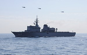 JS Uraga in SDF Fleet Review 2009 exercise day 1 a.jpg