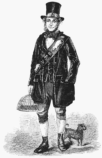 """London Labour and the London Poor - """"Jack Black, Her Majesty's ratcatcher"""", from Volume 3, pg. 11 (1851)."""