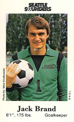 Jack Brand - Image: Jack Brand Seattle Sounders fire safety trading cards, 1980 (24873742868) (cropped)