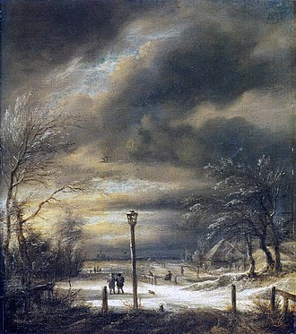 Winter Landscape near Haarlem - Image: Jacob van Ruisdael Winter Landscape near Haarlem