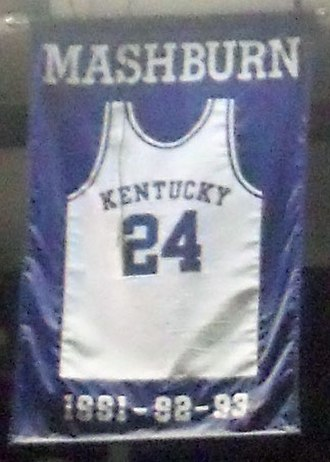 Jamal Mashburn - A jersey honoring Mashburn hangs in Rupp Arena