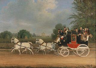 The London-Faringdon Coach passing Buckland House, Berkshire