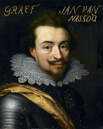 Francisco de Moncada, 3rd Marquis of Aitona - Catholic Count Jan VIII van Nassau-Siegen in charge of the Spanish-Flemish Fleet defeated by Dutch, Scots and English mercenaries, September 1631, at the Battle of the Slaak, fighting on behalf of the Spanish Governor Francisco de Moncada, 3rd Marquis of Aitona, (1586 - 1635). Rijksmuseum Amsterdam, 30x24.6 cm