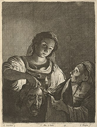 Judith with the Head of Holofernes (Saraceni) - Image: Jan van Troyen Judith with the Head of Holofernes SVK SNG.G 11965 40