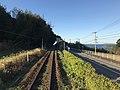 Japan National Route 204 and Madarashima Island from train near Higashi-Tabira Station.jpg
