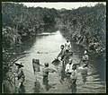 "Japanese ""Fishing"" Boys who are fishing in a river. (10796584123).jpg"