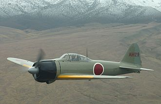 Aircraft camouflage - Restored IJN Mitsubishi A6M Zero in early grey-green camouflage