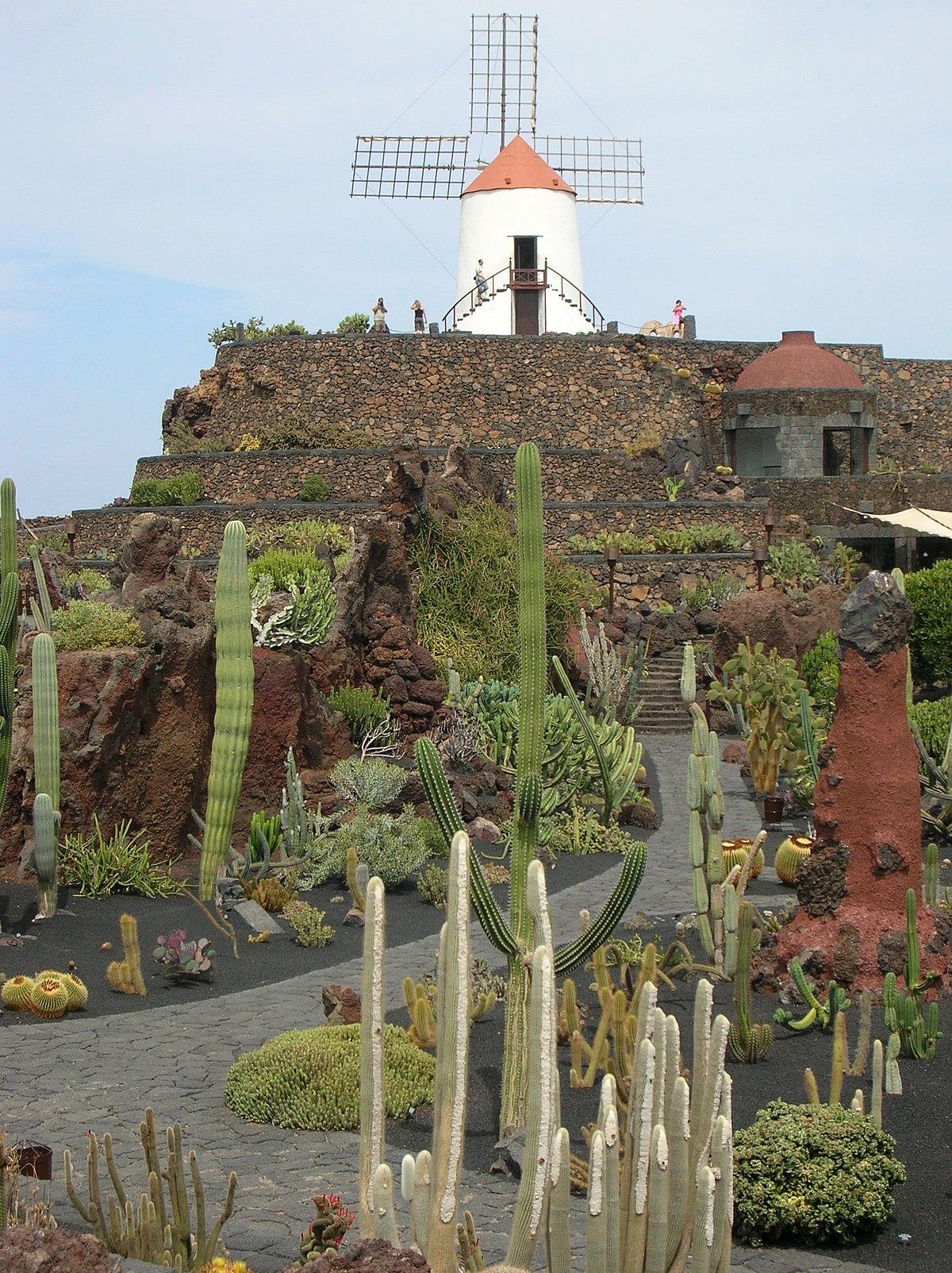 Jard n de cactus wikipedia for Jardin de cactus lanzarote