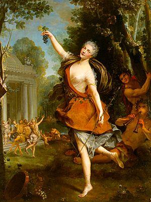Françoise Prévost - Mademoiselle Prévost as a Bacchante by Jean Raoux, c. 1723
