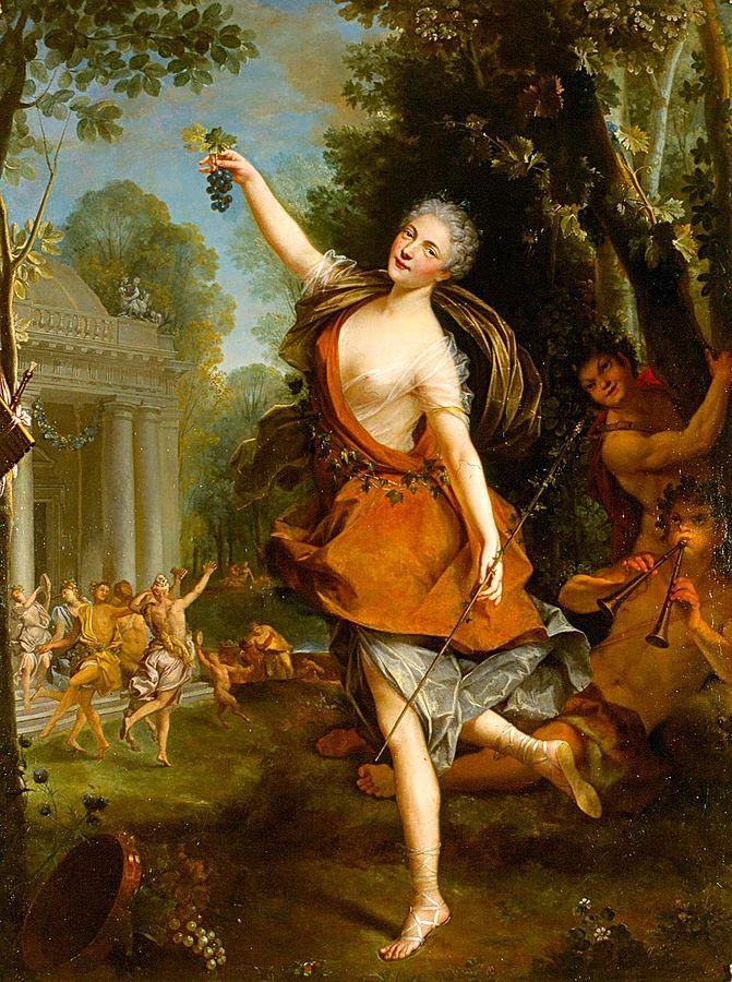 portrait of mademoiselle Prévost as a Bacchant