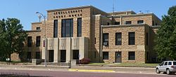 Jewell County, Kansas courthouse E side 1.JPG