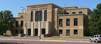 Jewell County, Kansas - Image: Jewell County, Kansas courthouse E side 1