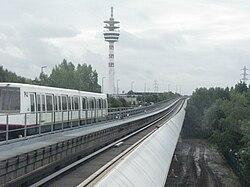 Métro à la station Les Prés.