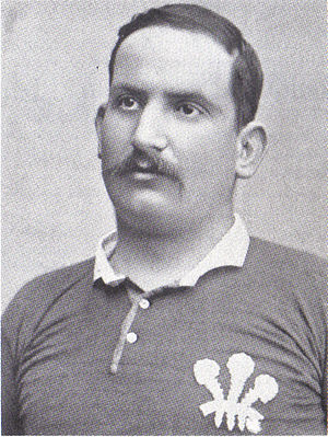 Jim Hannan (rugby player) - Hannan in Welsh jersey