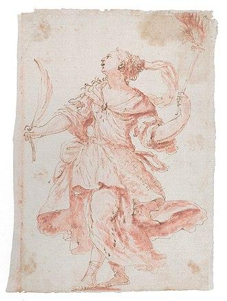 Johann Carl Loth - Allegory of Victory, sanguine